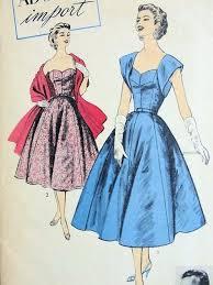 1950s rodriguez evening dress stole pattern ballet length heart