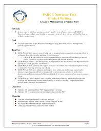 parcc sample lesson plans grade 4 writing