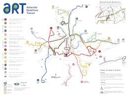 Dart Map Official Map Art Bus System Asheville North Transit Maps