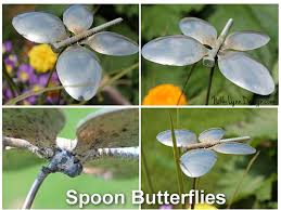 Recycled Garden Art Ideas - make this garden butterfly from recycled spoons for your garden