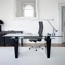 Glass Modern Desk Modern Home Office Desk Glass Top Stylish And Modern Home Office