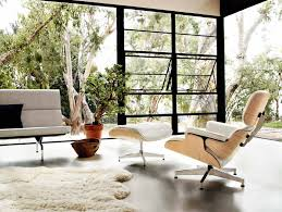 Modern Lounge Chairs For Living Room Design Ideas Furniture Extraordinary Eames Lounger With White Fur Rug And