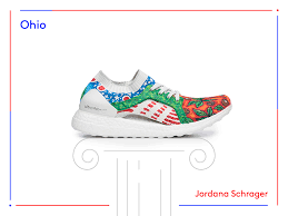 Ohio travel shoes images Adidas ultraboost sneaker artists designs 50 states usa PNG