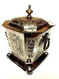 antique pot metal ls neo classical charming floral sugar bowl ceramic serving bronze