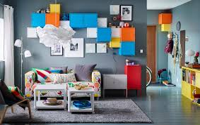 living room furniture ideas ikea a small livingroom furnished with a two seat sofa with a cover in a colourful cabinet