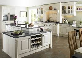Traditional White Kitchens - marble counter traditional white kitchen ideas 3446 home designs
