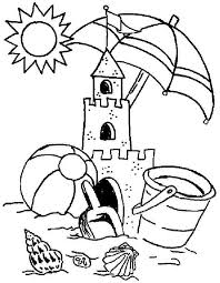beach coloring pages preschool summer coloring pages for preschool 6451