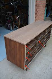 how to refinish veneer table mid century modern dresser makeover stripped refinished