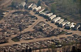 residents to start return to fire damaged canadian oil city