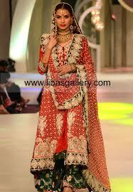 stylish pakistani bridal lehenga designer mona imran pbcw day 1