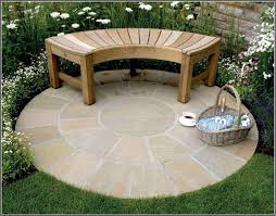 Patio Stone Flooring Ideas by Outdoor Patio Designs Garden Patio Ideas With Round Floor Design