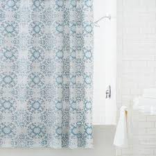 Turquoise And Grey Shower Curtain Scroll Medallion Grey Shower Curtain