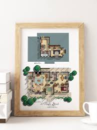 new gilmore girls house floor plan lorelai and rory u0027s