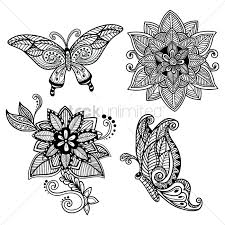 decorative flower decorative flower design vector image 1570319 stockunlimited