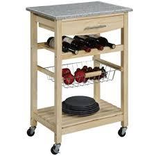 kitchen cart granite top cart w wine rack jcpenney