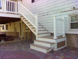 deck designs deck stairs with landing design stair design for