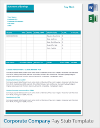 doc 600600 pay statement template u2013 download a free pay stub