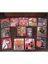 beginner plastic canvas patterns perpetual calendar