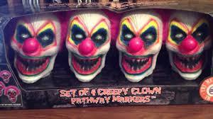 spirit halloween creepy clown pathway markers youtube