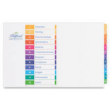 avery 15 tab table of contents color template avery 11 x 17 ready index customizable table of contents dividers