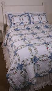 blue floral wedding ring romantic cottage quilt bedroom ideas