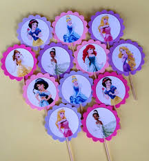 disney princess cupcake toppers birthday parties