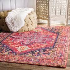 Raspberry Pink Rug Pink Floral Rugs U0026 Area Rugs Shop The Best Deals For Oct 2017