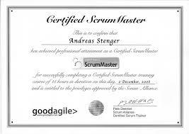 Scrum Master Sample Resume by Stenger Biz