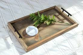 Home Goods Ottoman by Handmade Home Goods U2014 Serving Tray With Handles Wooden Serving