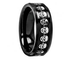 black wedding rings his and hers skull wedding ring etsy