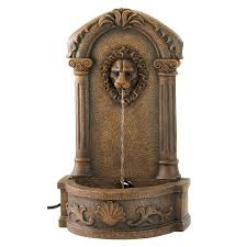 Water Fountains For Backyards by Water Fountains Outdoor Faux Stone Lion Head Wall Fountain For