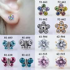 studex studs pair flower butterfly ear stud earrings studs studex tragus