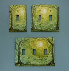 clear light switch cover in the forest choose your style of light switch cover painted