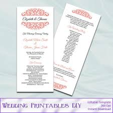 Wedding Party Program Template The 25 Best Wedding Ceremony Program Template Ideas On Pinterest