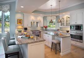 white blue kitchen houzz