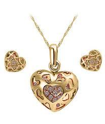 Engraved Pendant Cyan Heart Shaped Engraved Pendant Set Buy Cyan Heart Shaped