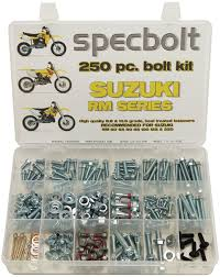 250pc specbolt suzuki rm two stroke bolt kit for maintenance