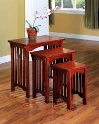 Mission Style Dining Room Set Nesting Tables Amazon Com
