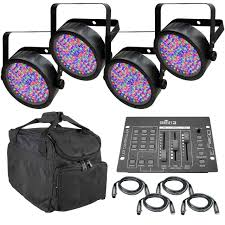 chauvet slimpar 56 led light chauvet dj slimpar 56 rgb wash light 4 pack controller cables