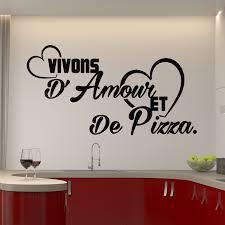 amour et cuisine sticker citation vivons d amour et de pizza stickers cuisine