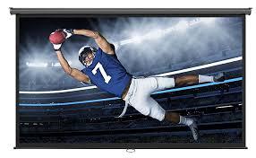 projection screens amazon com amazon com vonhaus 100 inch projector screen manual pull down