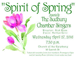 our annual spring concert is fast approaching get your tickets