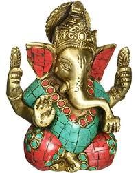 hindu l hot sale ektacreations ganpati ganesh metal ganesha big belly hindu