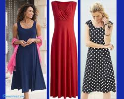 knit jersey dresses travel wear for women over 40 or 50