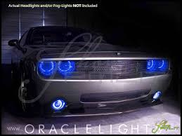 Led Blue Light Bulb by 08 14 Dodge Challenger W Pro Led Dual Color Halo Rings Headlights