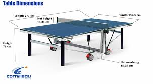 Rules For Table Tennis by Table Tennis Table Measurements Size And Dimensions