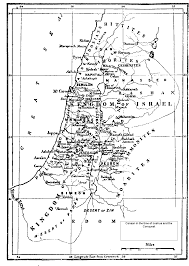 Map Of Israel And Palestine Israel Palestine Map Of Canaan In The Time Of Joshua