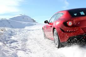 nissan 370z in snow pictures ferrari four ff playing in the snow