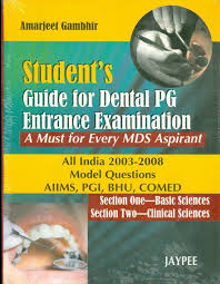 student u0027s guide for dental pg entrance examination a must for