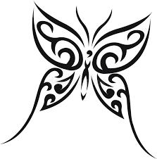 butterfly tribal stock vector image of tender 10048273